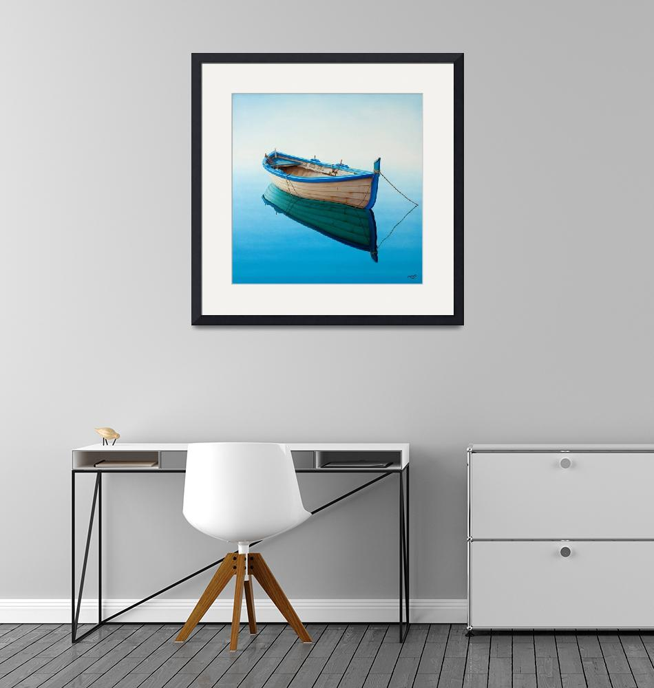 """boat in a Tranquil Bay""  (2008) by Horacio-Cardozo"