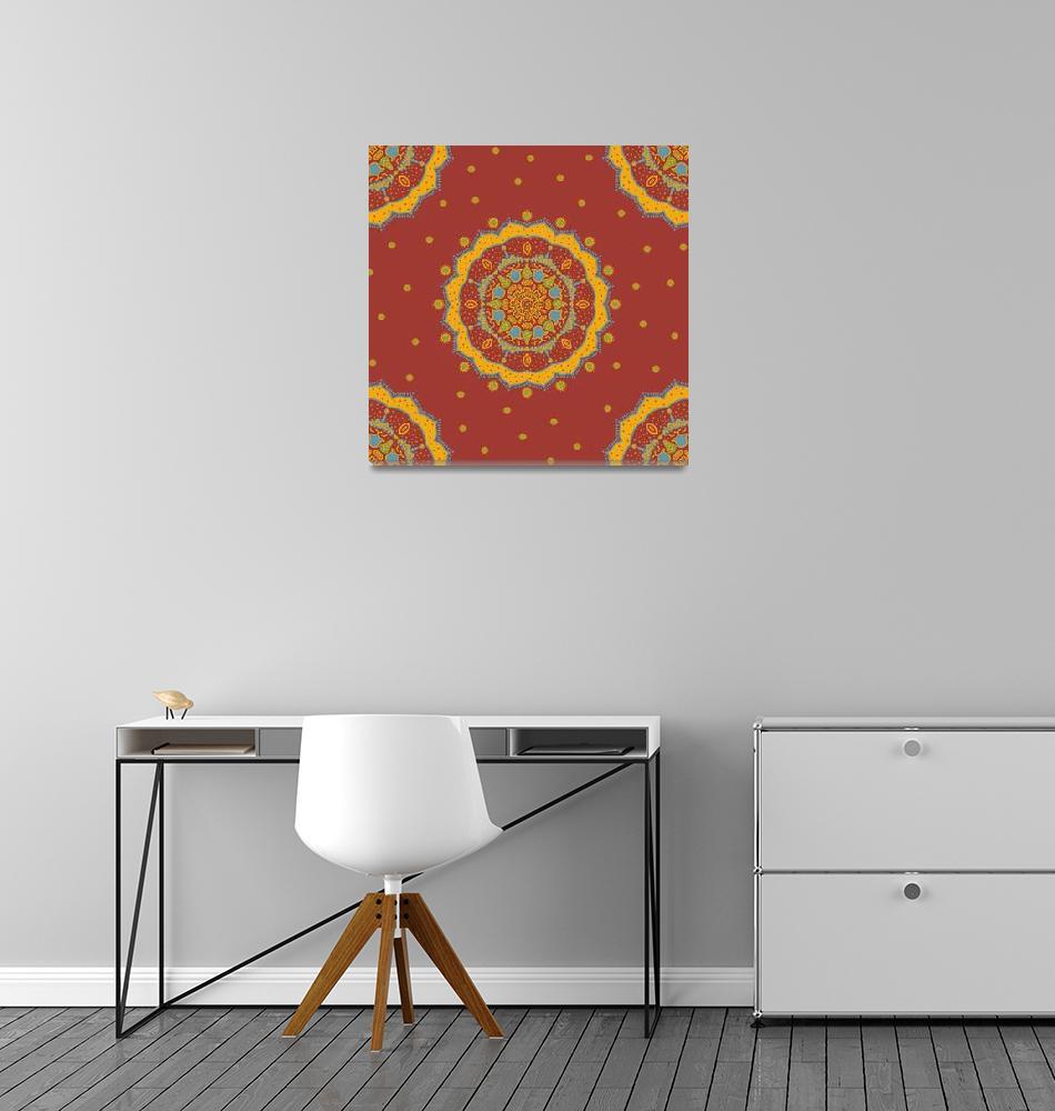 """Red Yellow Mandala""  (2015) by CristinaBianco"