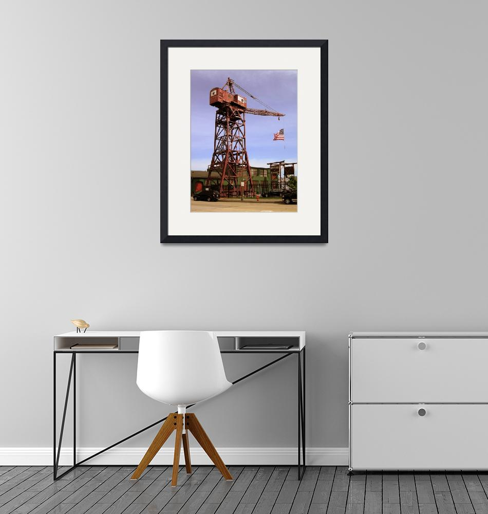 """""""Museum of Industry Crane and Flag, Baltimore, MD""""  by Artsart"""