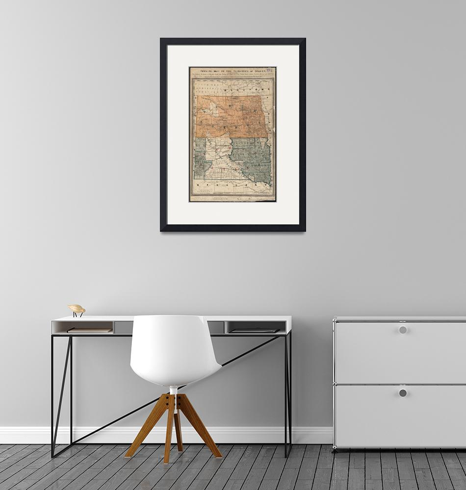 """Vintage Map of North and South Dakota (1886)""  by Alleycatshirts"