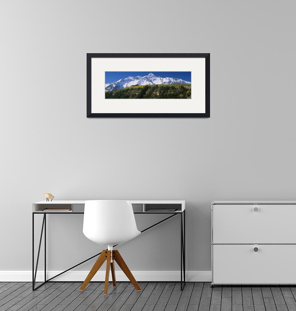"""""""Snowcapped mountains on a landscape""""  by Panoramic_Images"""