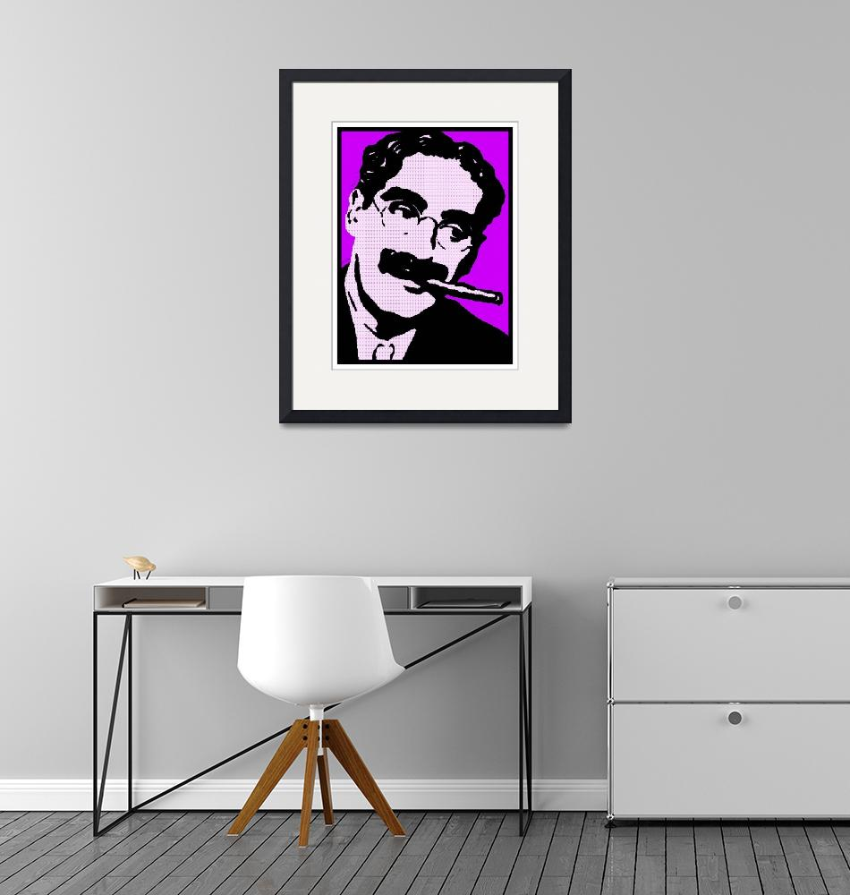 """GROUCHO MARX-4""  by thegriffinpassant"