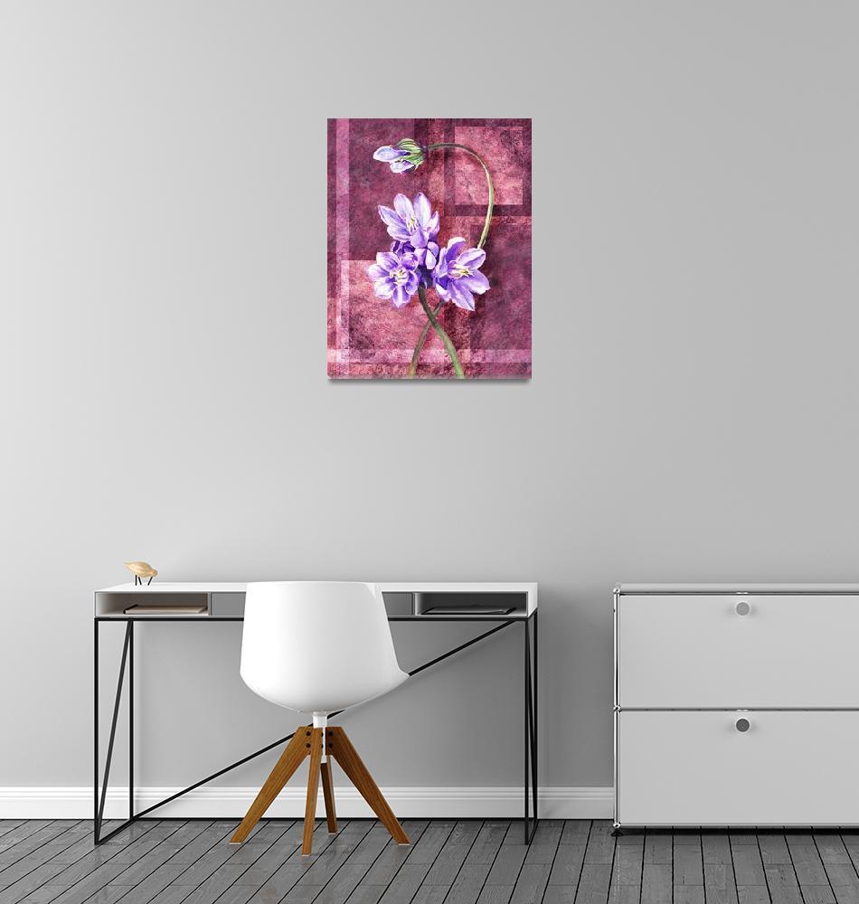 """Gorgeous Purple Flowers Decorative Painting"" (2016) by IrinaSztukowski"