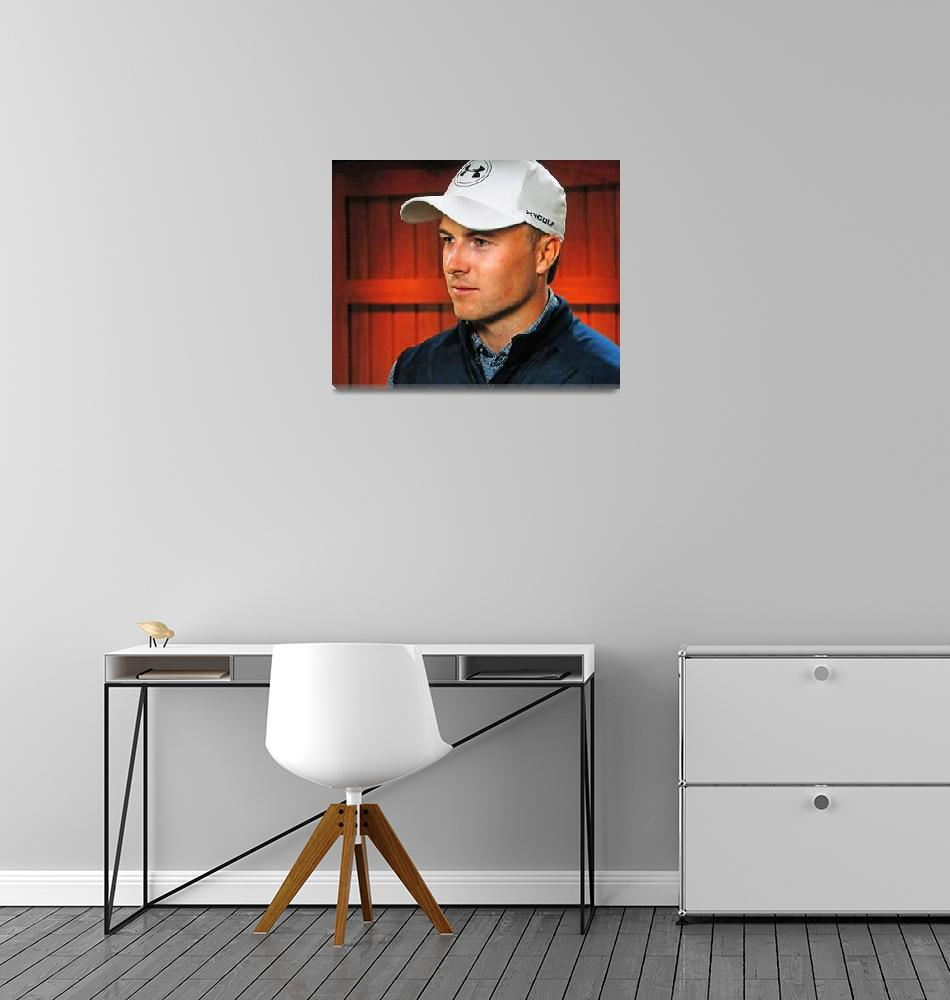 """""""Jordan Spieth at the 2017 Masters""""  (2017) by ajc401"""