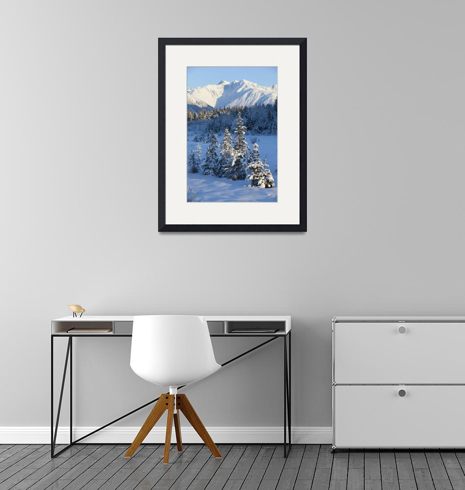 """""""Scenic view of Chugach Mountains and snowcovered l""""  by DesignPics"""