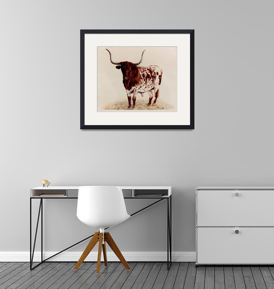 """Longhorn painting""  by AnimalsbyDiDi"