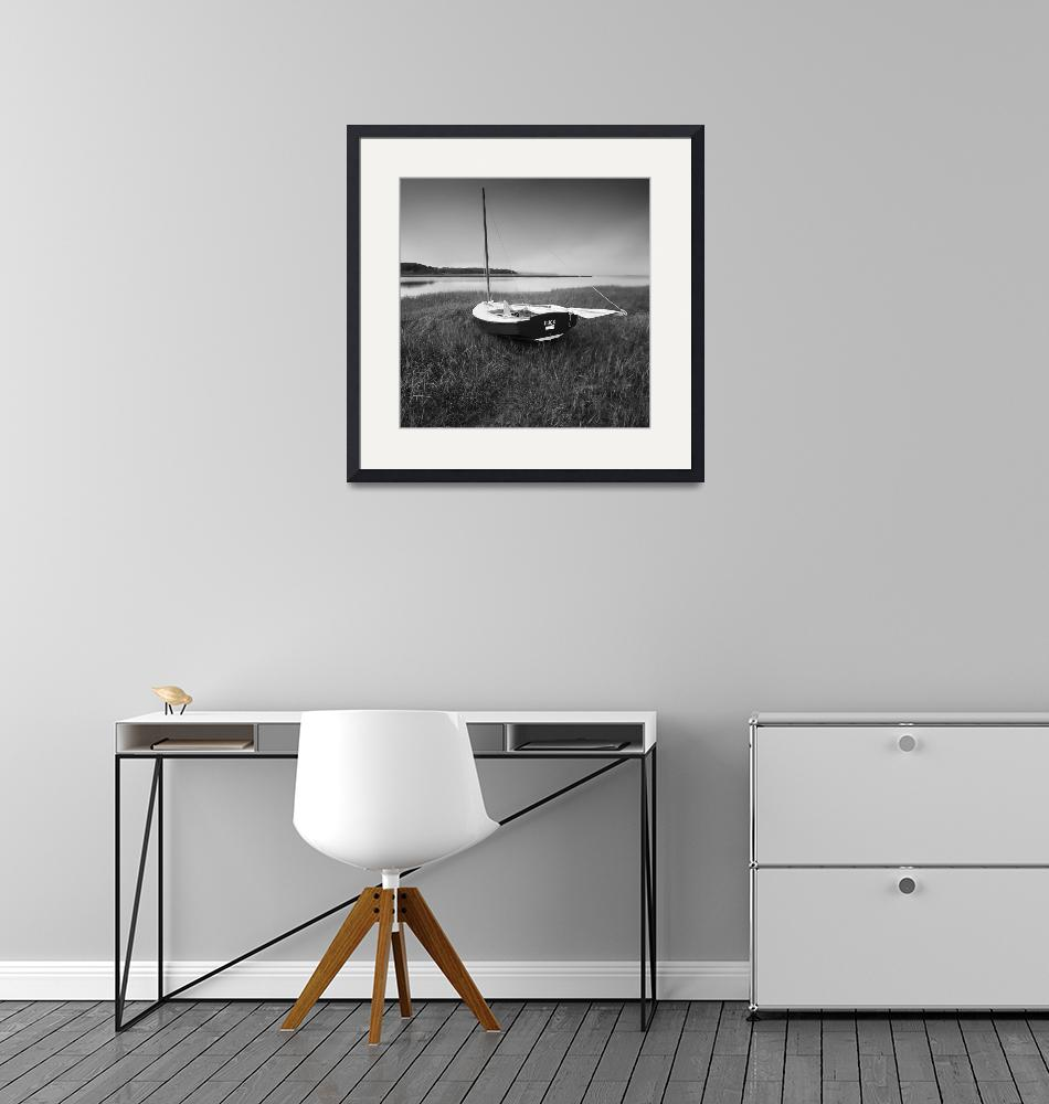 """""""DUCK Sail Boat Black and White Photography""""  (2008) by Black_White_Photos"""