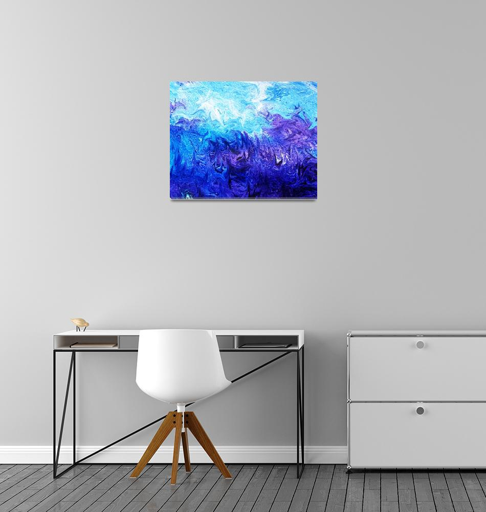 """Abstract Ocean V""  (2015) by IrinaSztukowski"