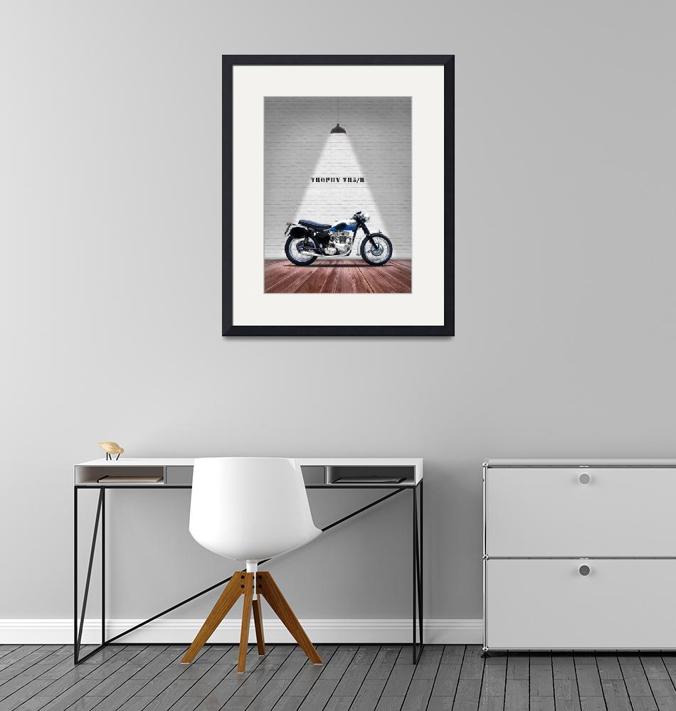 """""""The Trophy TR5R Vintage Motorcycle""""  by mark-rogan"""