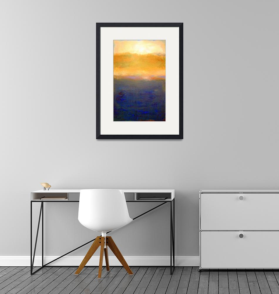 """Abstract Sunset over Lake Michigan""  (2008) by Michelle1991"