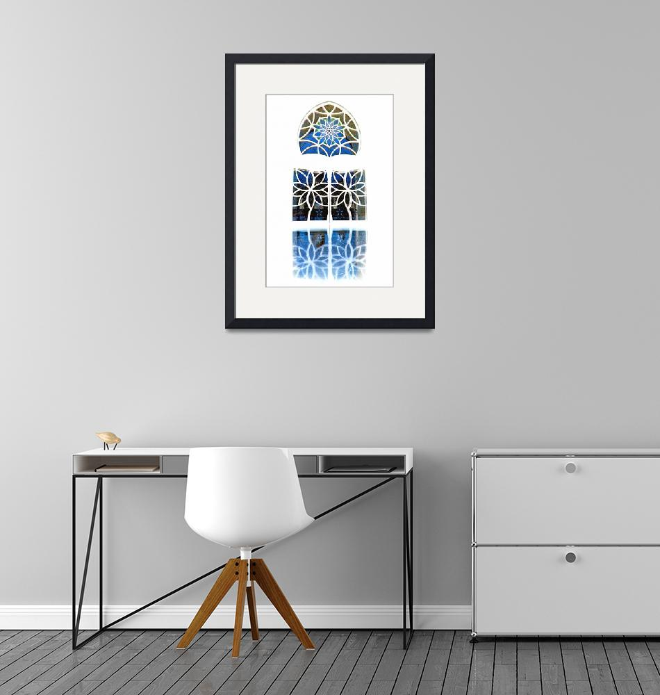 """Mosque Foyer Window 1 white""  (2010) by Markomarko"