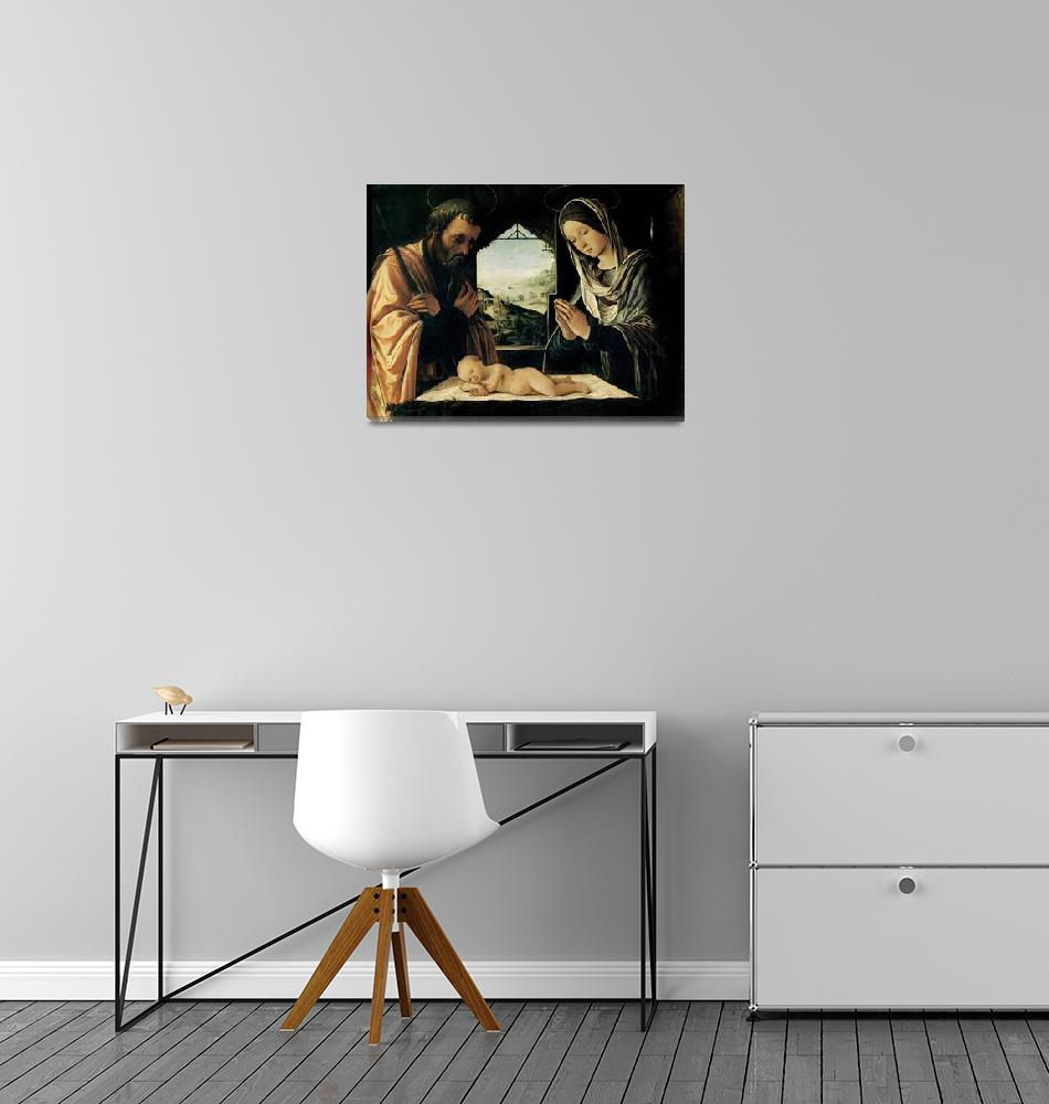 """""""The Nativity by Lorenzo Costa""""  by fineartmasters"""