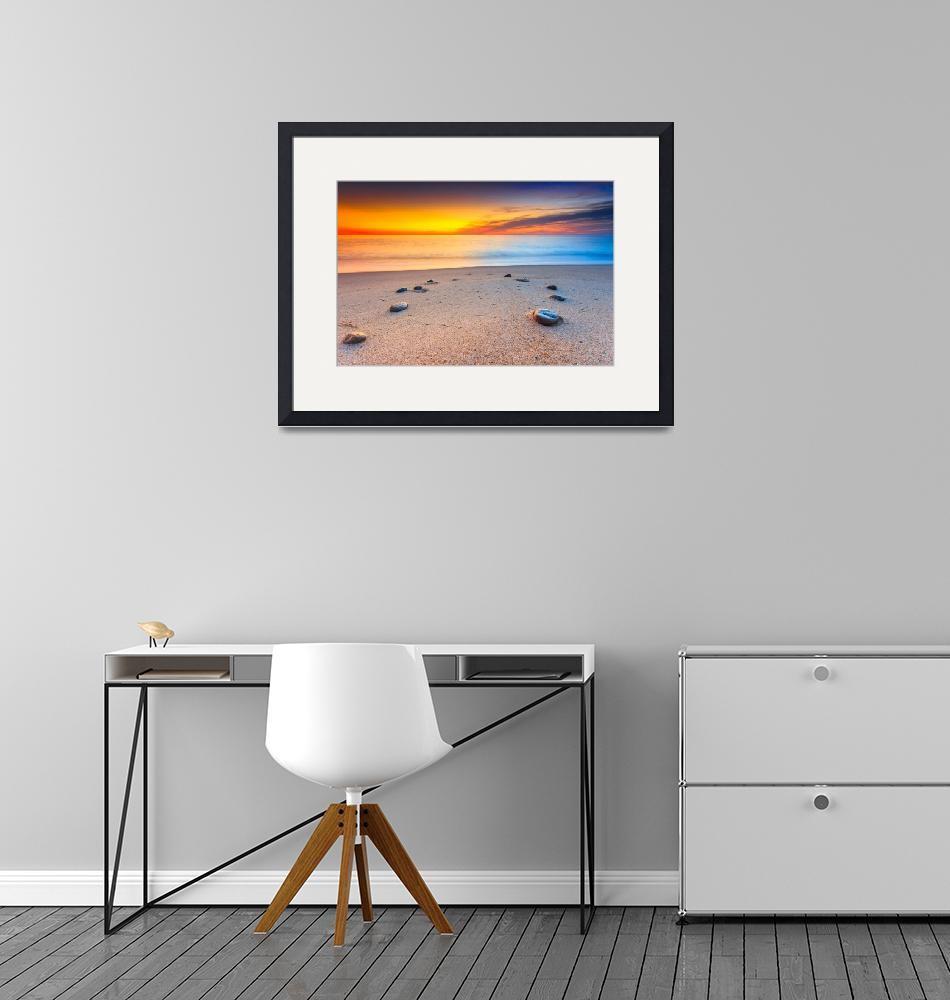 """First Autumn Sunrise On Nauset Beach""  (2016) by dapixara"