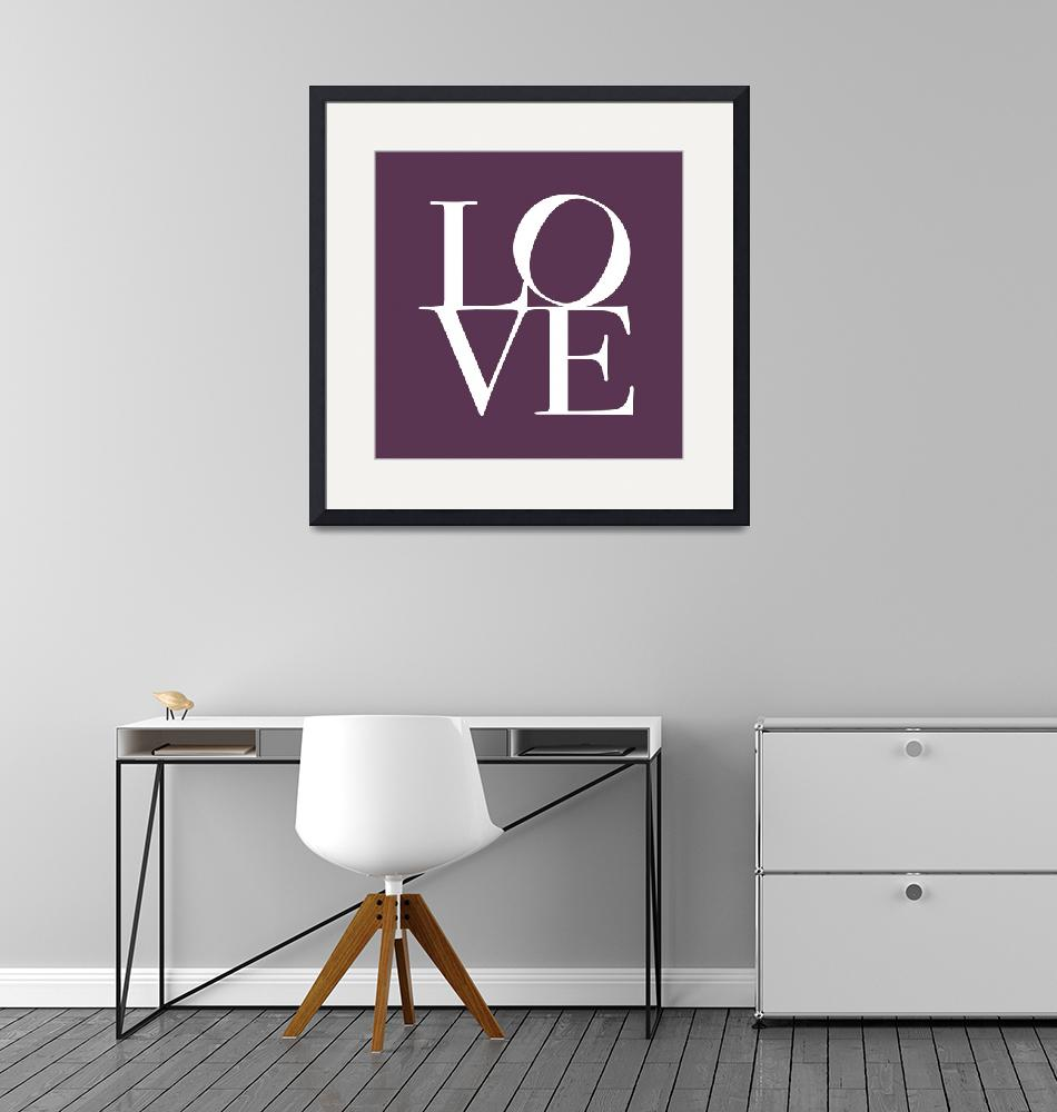 """Love in Mullbery Plum""  (2011) by ModernArtPrints"