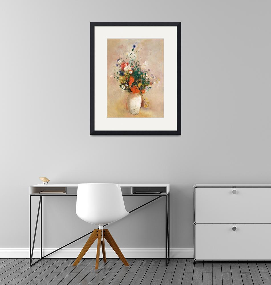 """""""Vase of Flowers by Odilon Redon"""" by FineArtClassics"""