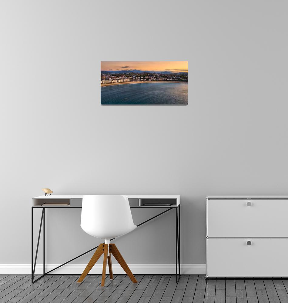 """San Sebastian Sunset""  (2012) by boppintheblues"