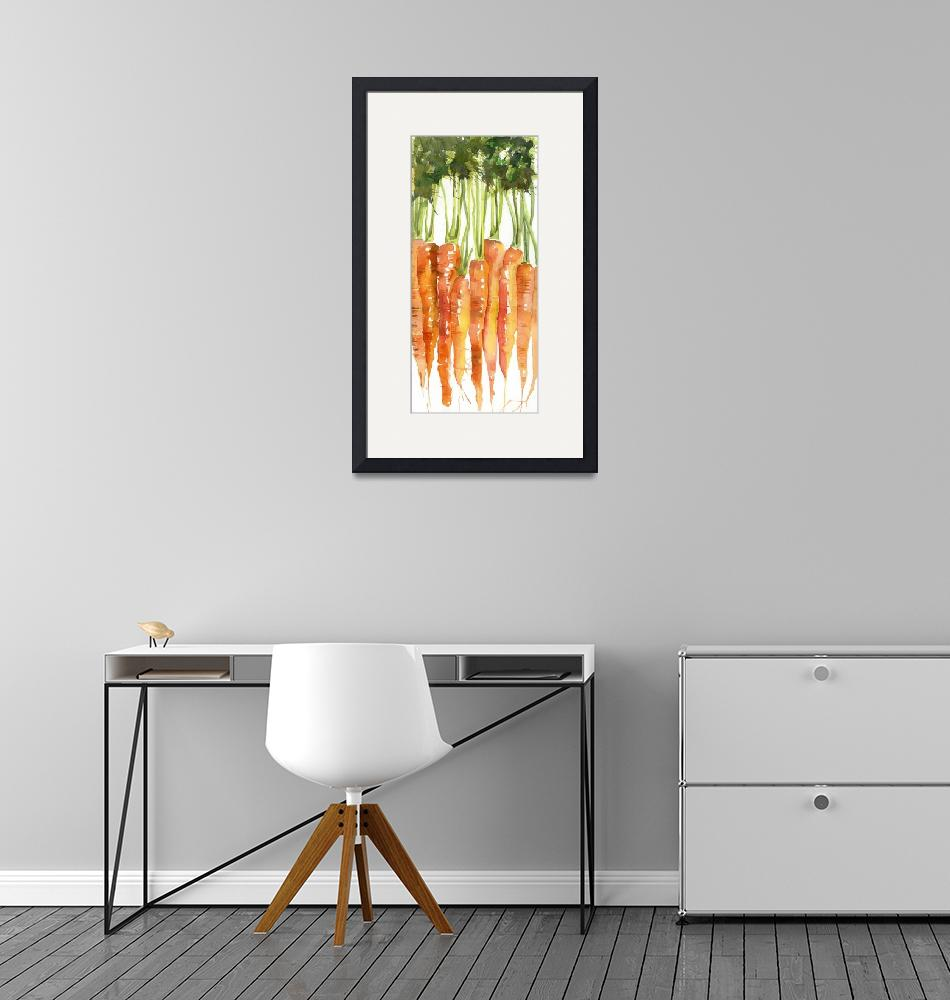 """Carrot Bunch Kitchen Art""  by BlendaStudio"