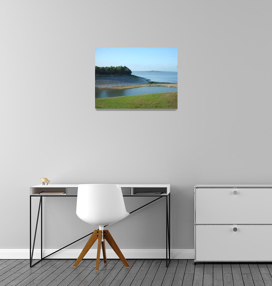 """Overlooking Grenada Lake""  by alleymarziacat"