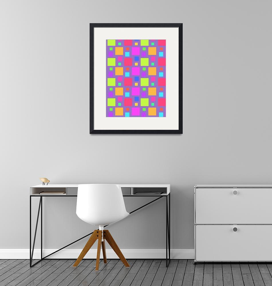 """""""Multicoloured Squares (digital) by Louisa Knight""""  by fineartmasters"""