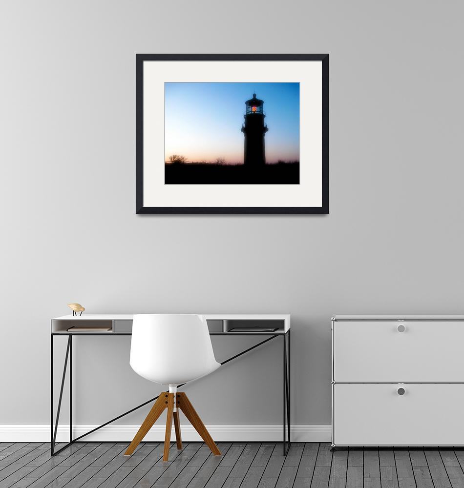"""Aquinnah Lighthouse Silouette""  (2008) by ChrisSeufert"