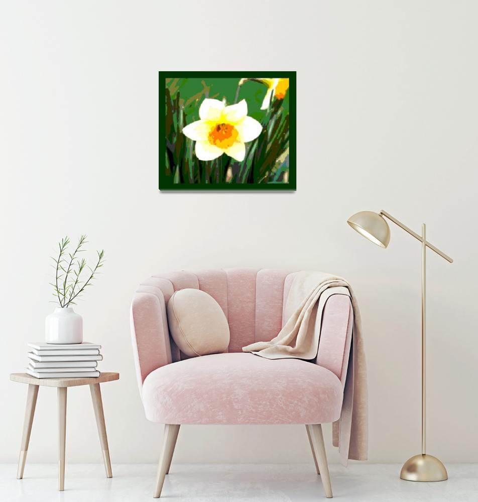 """Daffodil Blossom Enhanced w/ border""  (2013) by TheNorthernTerritory"