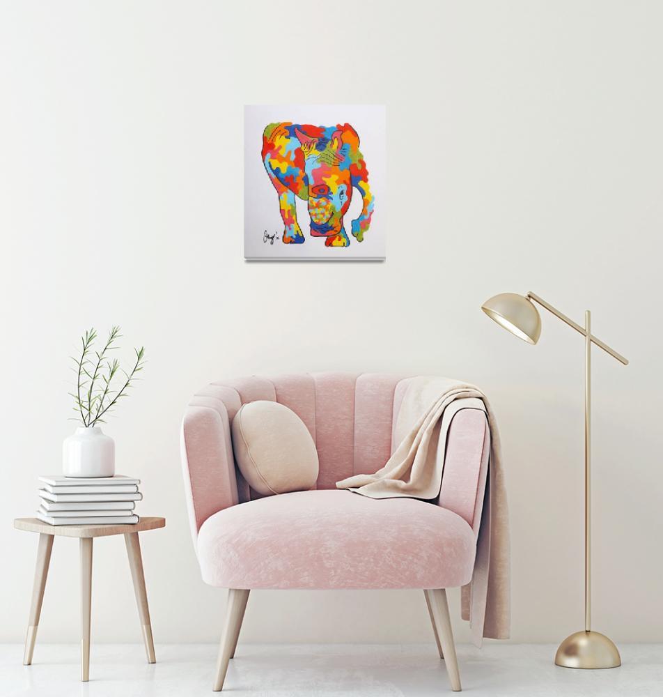 """""""rhino""""  (2014) by gallerymay"""