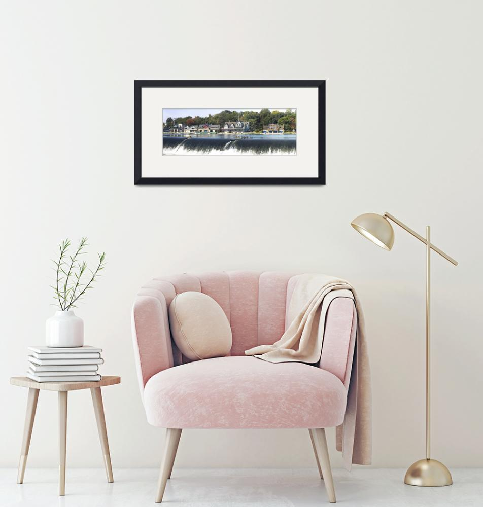 """""""Boathouse Row at the waterfront""""  by Panoramic_Images"""