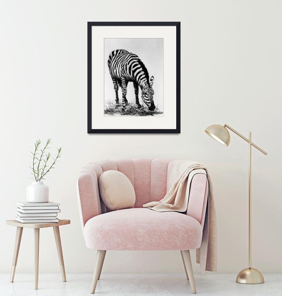 """Zebra #3 painting""  by AnimalsbyDiDi"