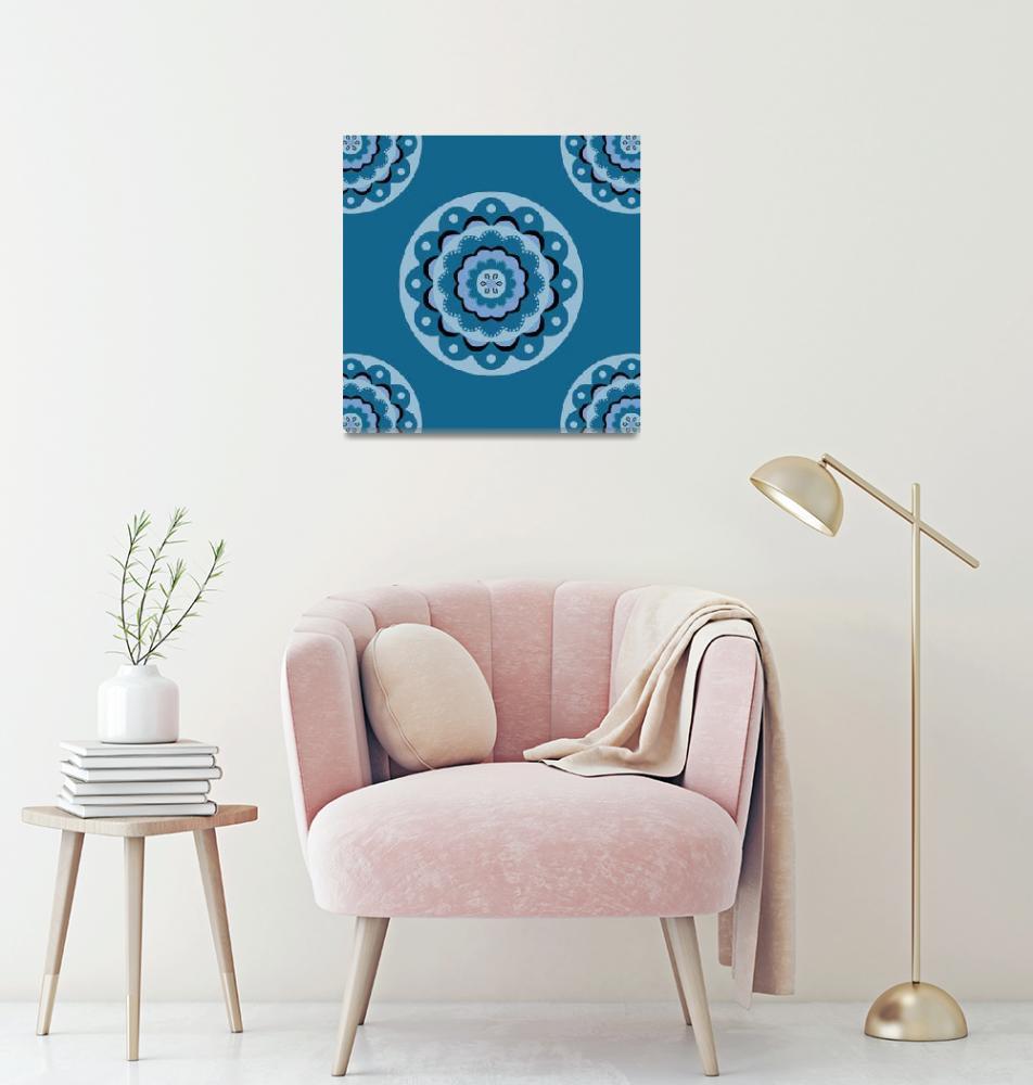 """Blue Mandala""  (2015) by CristinaBianco"