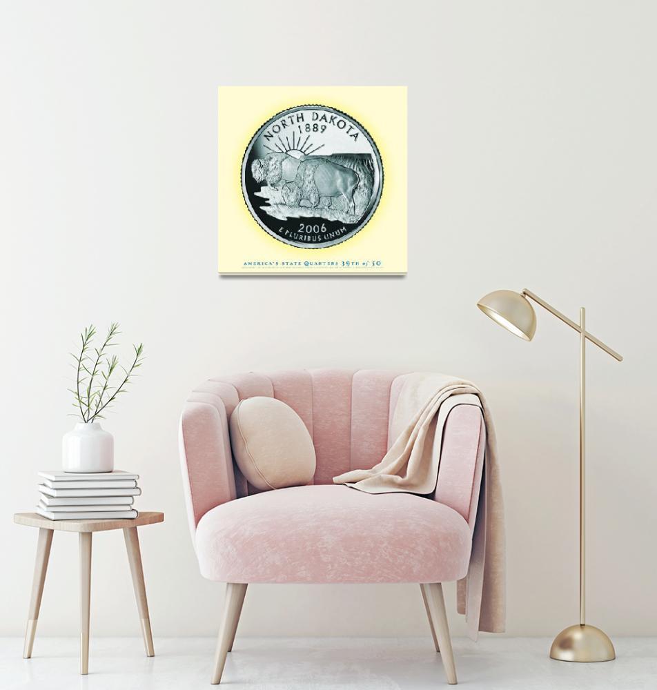 """North Dakota State Quarter - Portrait Coin 39""  (2017) by statequarters"