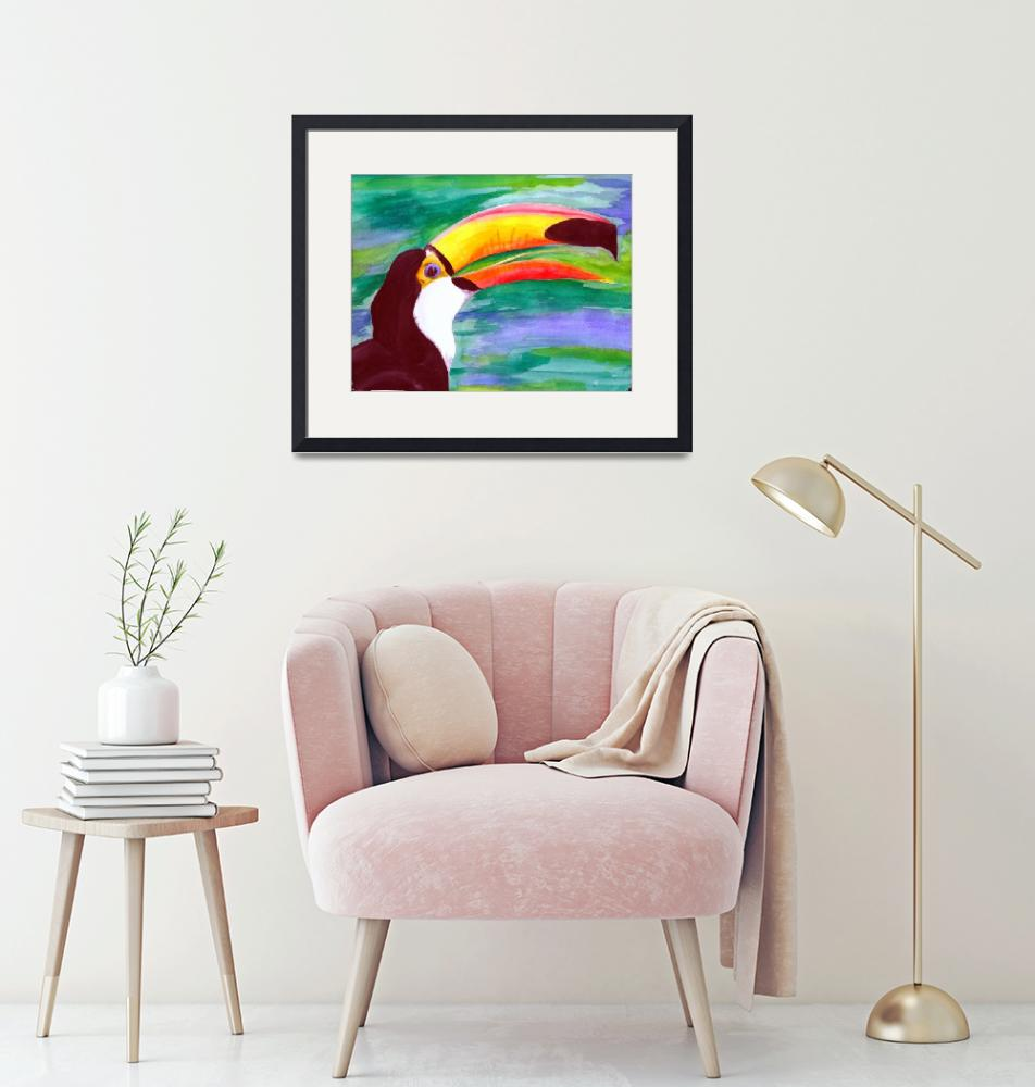 """""""Toucan Watercolor"""" (2009) by primalaspects"""