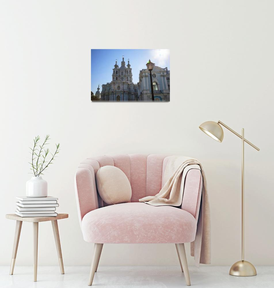 """""""St. Petersburg Smolny Cathedral""""  (2013) by madeline"""