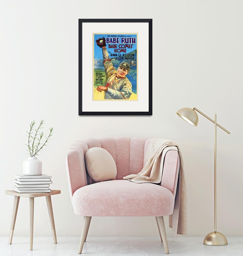 """""""Babe Comes Home, Babe Ruth Vintage Movie Poster"""" by FineArtClassics"""