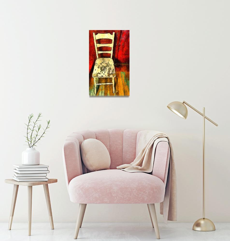 """""""The Cream-Colored Chair""""  (2014) by RCdeWinter"""