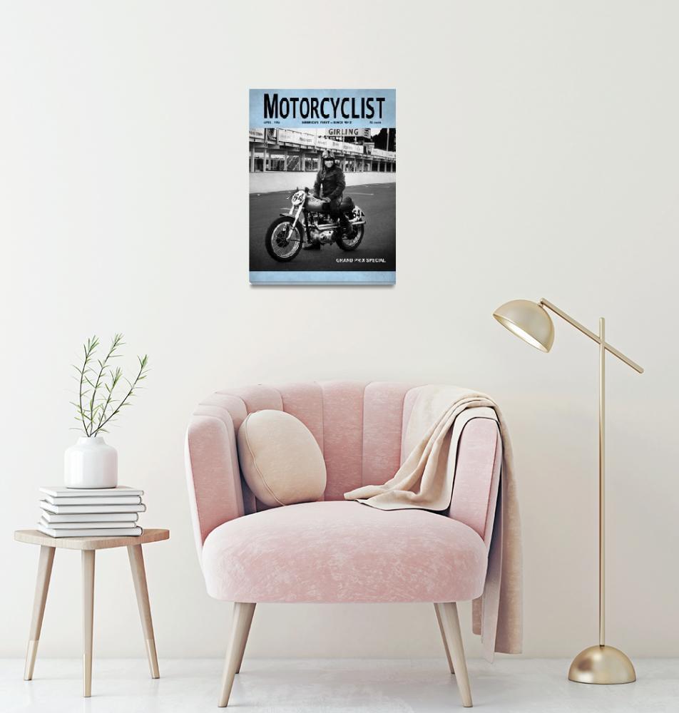 """Motorcyclist_Grand-Prix_Special_1954"" (2012) by mark-rogan"