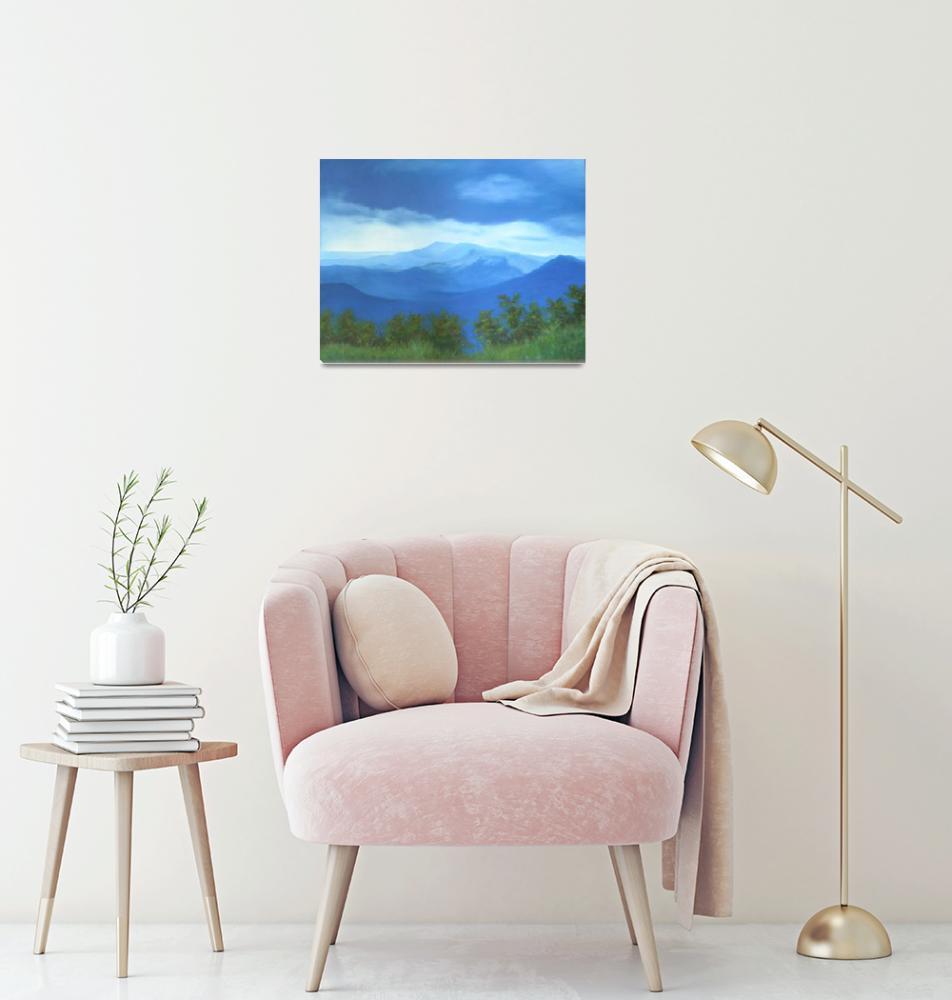 """Storm Over White Oak Mountain""  by Dreamweaverart"