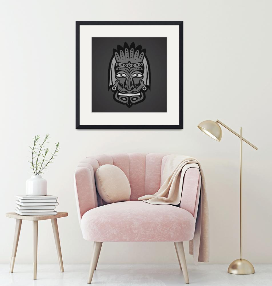 """African Mask Framed Art Print""  by buddakats1"