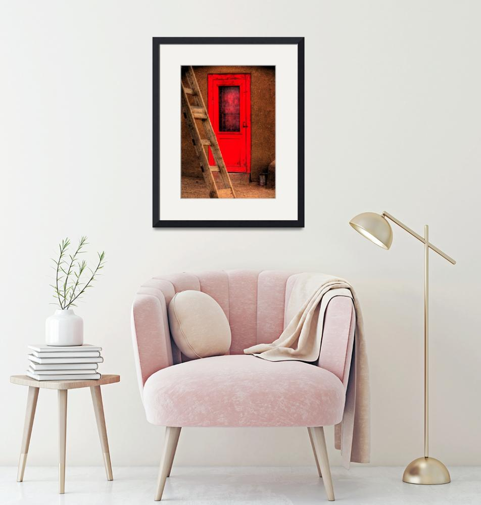 """Ladder and red door.""  (2010) by mellow"