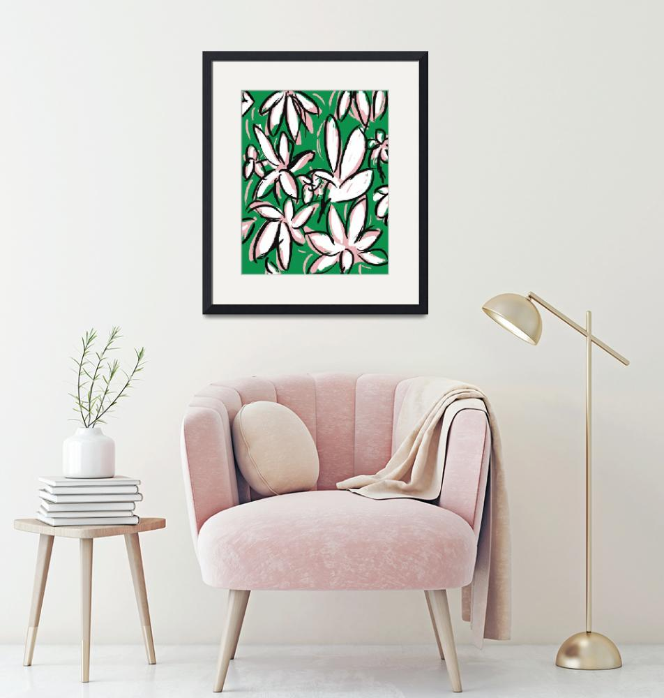 """""""Green Modern Floral""""  (2017) by TuesdayMoon"""