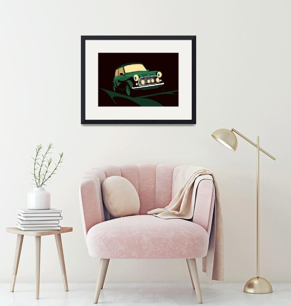 """Mini Cooper Green""  (2012) by ModernArtPrints"