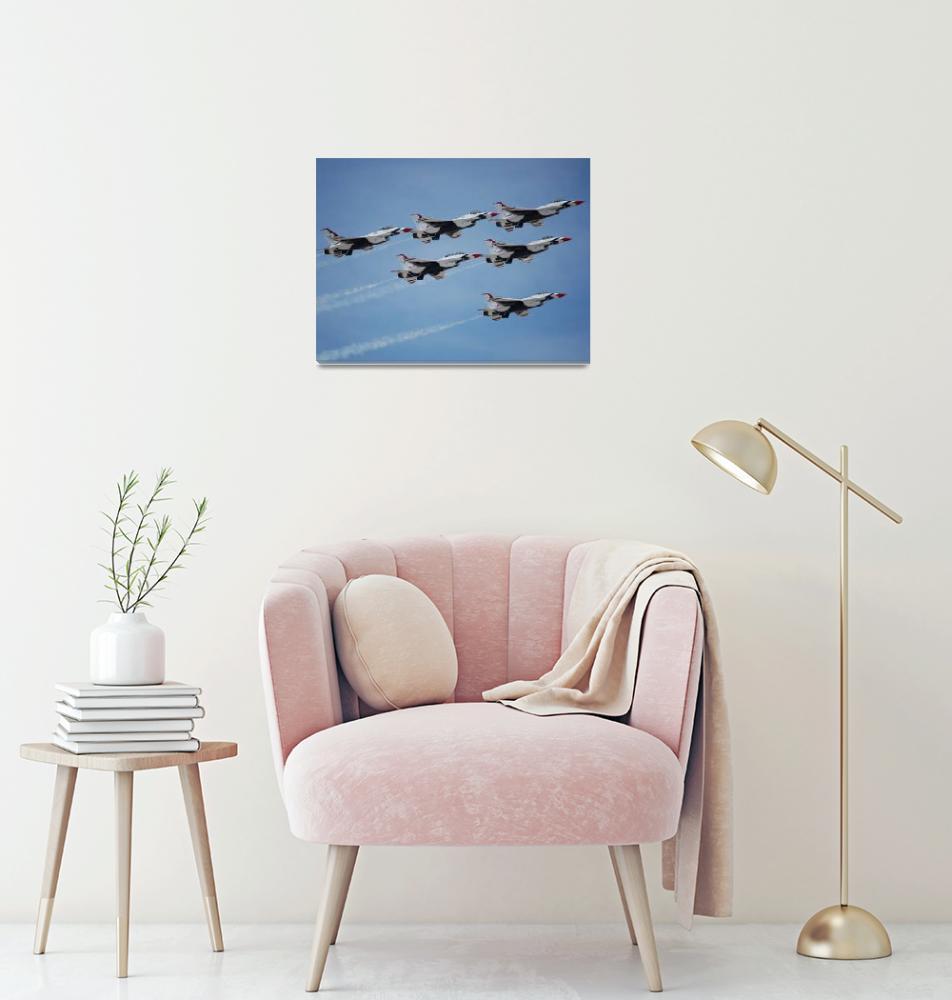 """USAF Thunderbirds""  (2009) by christophertaylorphotography"