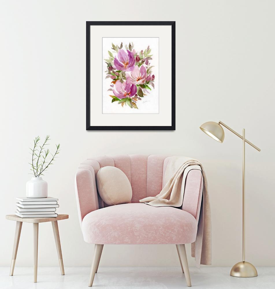 """""""Muted Pinks Bouquet""""  (2019) by ColleenArt"""