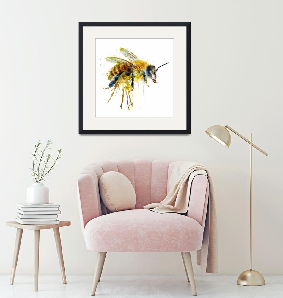 """Watercolor Bee"" (2016) by MarianVoicu"