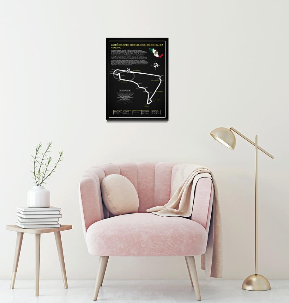 """The Autodromo Hermanos Rodriguez""  by mark-rogan"