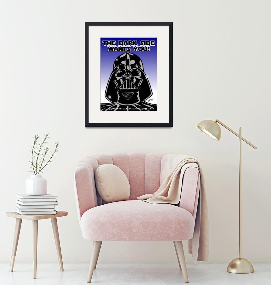"""""""Vader: The Dark Side Wants You""""  (2011) by EdMedArt"""