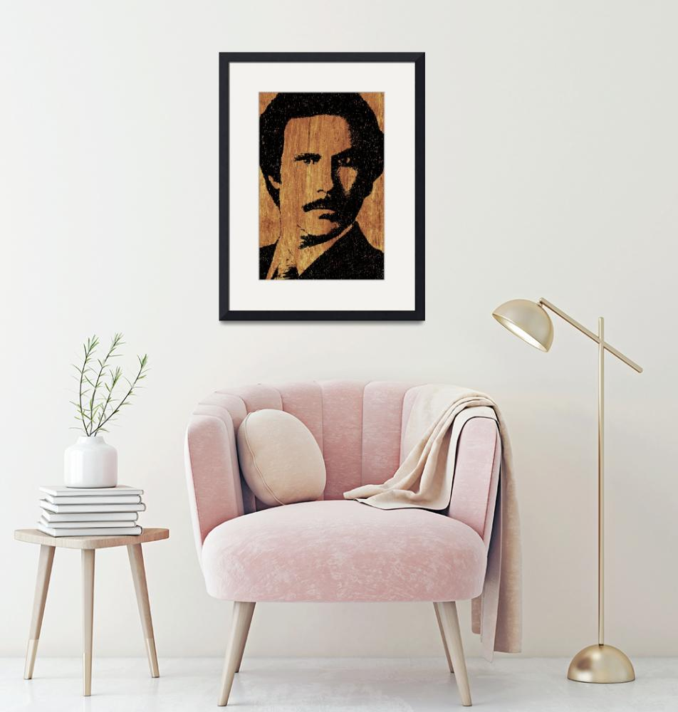 """""""Will Ferrell Anchorman Ron Burgundy On Simulated S""""  (2015) by RubinoFineArt"""