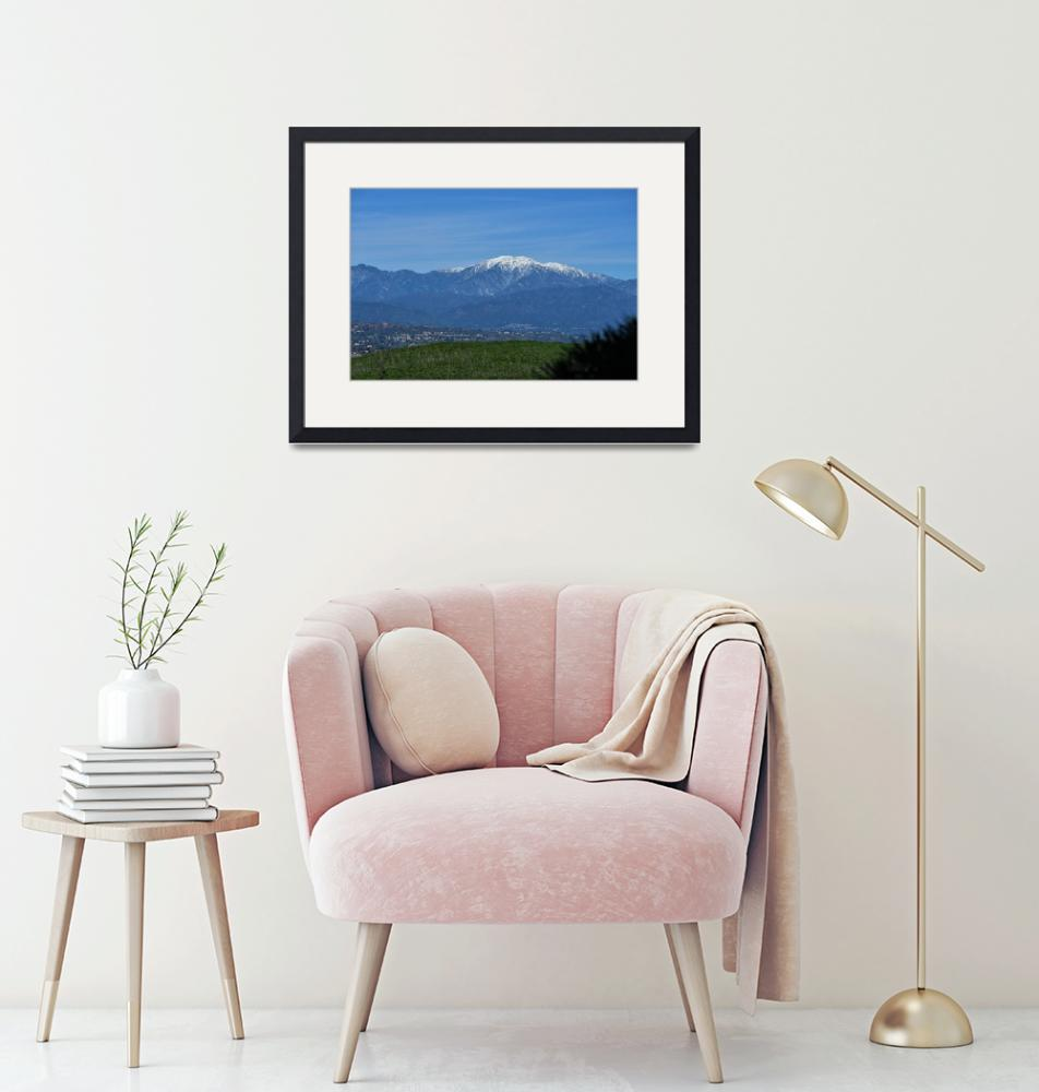 """""""Snow Capped Mt Baldy and San Gabriel Mountains""""  (2019) by Booradley"""