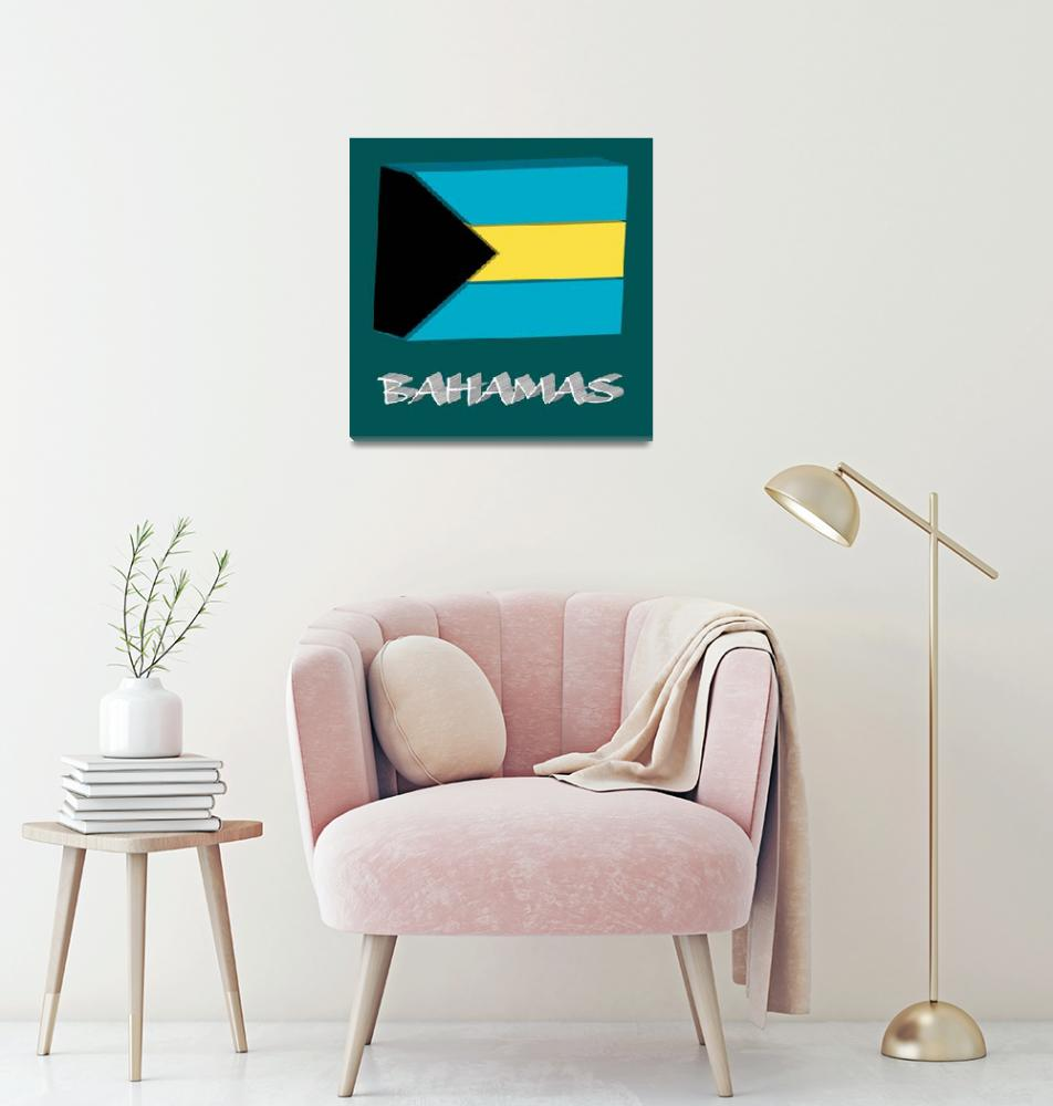"""bahamas 3d flag""  by robertosch"