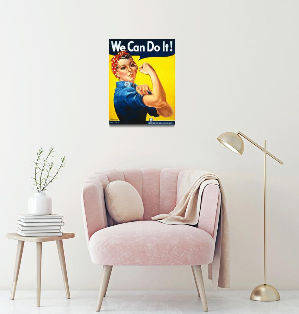 """We Can Do It Rosie the Riveter Vintage Poster""  by FineArtClassics"