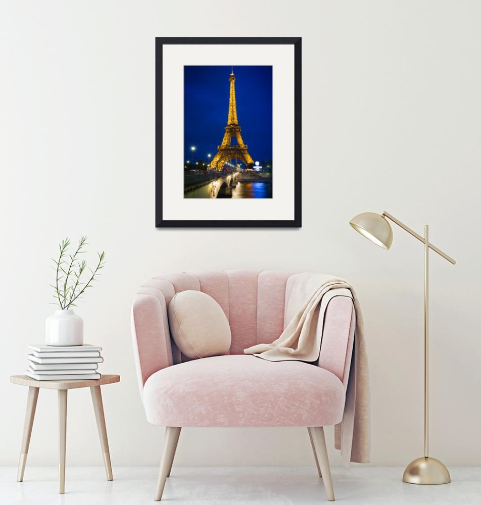 """""""Eiffel Tower by Night""""  (2012) by Inge-Johnsson"""